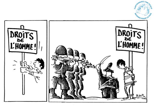 Dessins D' Humour Et Droits De L' Homme