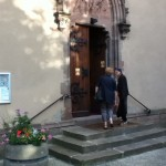 Arrivée des premiers participants à l'église des Récollets de Sélestat